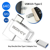 64/32/16GB Type C Dual USB 3.0 U Disk USB Flash Drive Get Type C Adapter Free