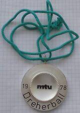 metall fasching anhänger orden karneval  fasnet alt MTU dreherball 1978 top deko