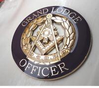 ZP414 Large Freemason Grand Lodge Officer Metal Badge in Purple Gloss Finish