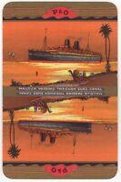 Playing Cards Single Card Old P&O Shipping Advertising Art SS MALOJA Liner Ship