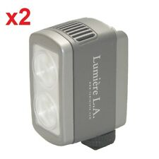 2x Lumiere L.A. L60326 DUO LED 5500K Portable White Daylight Video Light ONLY