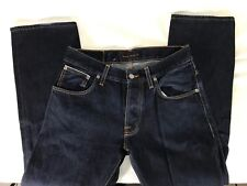 Nudie Jeans Straight Alf Organic Dry Ropy Selvage Jeans Italy-Made Men's 32x27