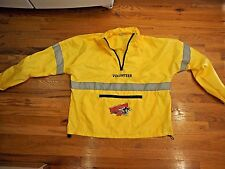 2013 Disney Marathon Weekend Yellow Volunteer Windbreaker Jacket Sz L Large