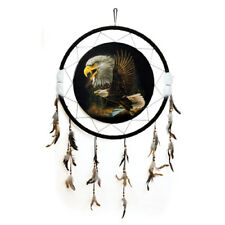 "Giant 26"" 2 Eagles Soaring Over Dark Nature Scene Dream Catcher Feather 2633"