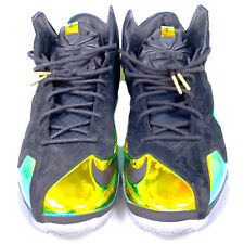 NIKE LEBRON XI EXT QS KING'S CROWN BLACK /BLACK-METALLIC GOLD SNEAKERS WITH BOX