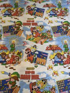 Retro 1992 Nintendo Super Mario Bros. and The Legend of Zelda Single Duvet Rare