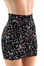 SMALL Galactic Gumball Spandex Bodycon Mini Skirt Clubwear Ready to Ship!