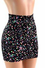 MEDIUM Galactic Gumball Spandex Bodycon Mini Skirt Clubwear Ready to Ship!