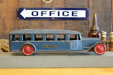 "Vintage Steelcraft Pressed Steel Toy Inter City Bus Truck Blue 24"" 1920s 1930s"