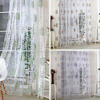 Modern Room Tulle Door Window Curtain Balcony Panel Sheer Scarfs Valances Drape