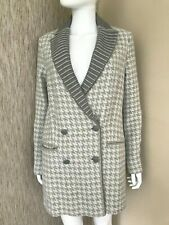 MISSONI HOUNDSTOOTH WOOL BLEND COAT SIZE UK 8 RETAIL £1880 BNWT