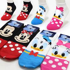 4 Pairs Lovely Disney Character Socks Womens Girls Mickey Mouse Cartoon Socks