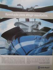 9/2005 PUB ROLLS-ROYCE MAINTENANCE TURBINE HELICOPTER ORIGINAL PORTUGUESE AD