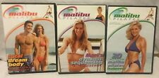3 Malibu Pilates chair workout DVD lot set total dream body 20 minute makeover