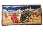 "Vtg 70's Spanish Bull Fighting Tapestry Wall Hanging Art approx 38""x19"" Matador"