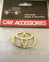 TOYOTA emblem badge/ decal- small size, gold/ chrome finish