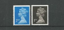 Grande-Bretagne 1989 1392-93 ** Reine Elizabeth II 2ND 14 p bleu