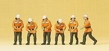 Preiser 10242 H0 Figuren Feuerwehrmänner im Einsatz