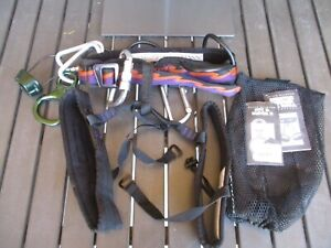 Black Diamond Mentor Climbing Sit Harness with Super 8, ATC and Carabiners, XS