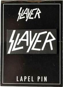 "Slayer Band Music Black & White Classic Logo Lapel Pin 1.5"""