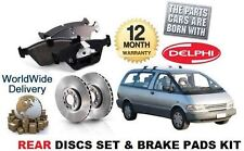 FOR TOYOTA PREVIA LUCIDA EMINA 2.4 1990-2000 REAR BRAKE DISCS SET + DISC PAD KIT