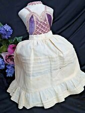 Antique Victorian era Doll Skirt petticoat Pin Tucks ruffle flounce fits 18-20""