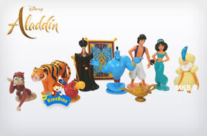 Disney ALADDIN 10 Cake Toppers / 10 Figures