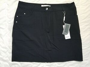 1 NWT DAILY SPORTS WOMEN'S SKORT, SIZE: 12, COLOR: BLACK (J192)