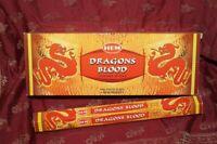 Hem Dragons Blood Incense Sticks Bulk 6 x 20 Stick Box, 120 Stick (Dragon's)