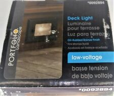 New listing Portfolio Low-Voltage Deck Light #0092894 2 Face Plate Oil Rubbed Bronze Finish