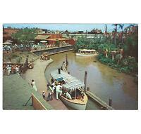 Disneyland Vintage Unused Postcard 1955 Jungle Cruise Dock Overview P12288