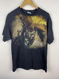 Vintage Walls Of Jericho Trustkill Mens T Shirt Size M Double Graphics Black