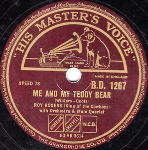 CHILDRENS CLASSIC ROY ROGERS 78 ME & MY TEDDY BEAR / BUFFALO BILLY HMV BD1267 V+