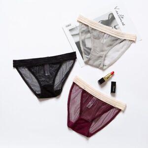 3 Pcs Lot Women Sexy Lace Low Cut Bikini Briefs Panties Underwear Lingerie Panty