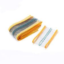 1/6W Metal Film Resistor Kit ±1% Tolerance 1 Ohm to 1M Ohm 30 Values /1500pcs