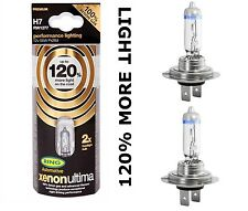 NEW H7 Ring XENON ULTIMA Car Headlight Bulbs + 120% Brighter H7  Pair
