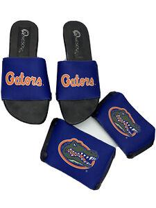 ONESOLE 6 Wedge Black Sandals w Florida Gators Interchangeable Toppers
