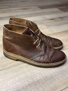 Clarks Originals Desert Boot Brown Leather Crepe Sole 78358 Men's SZ 12 Chukka