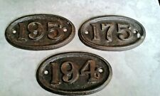 """175,194,195,RAILWAYANA, HOUSE NUMBER PLAQUE No.175 ,93mm FIXINGS,5"""" W,QUALITY"""