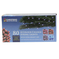 80 LED Four Colour Chaser Ultra Bright Christmas String Lights Indoor Outdoor
