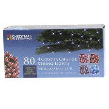 80 LED quattro colori ultra brillanti Chaser Stringa Luci di Natale interni esterni