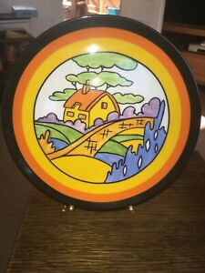 WEDGWOOD BIZARRE CLARICE CLIFF PLATE - ORANGE ROOF COTTAGE - 631A