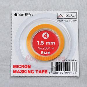 AIZU MODEL PAINT SPRAY MICRON MASKING TAPE 1.5MM 5M