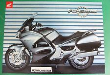 HONDA PAN EUROPEAN MOTO MOTORCYCLE ADVERTISING PUBBLICITA BROCHURE DEPLIANT