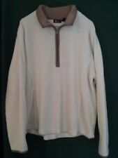 Women's SJB Active pullover fleece jacket size Extra Large, off white, tan -361