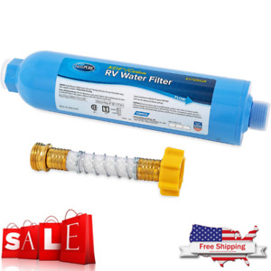 RV WATER FILTER Parts And Accessories Inline System With Hose Camper Trailer NEW