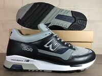 Mens New Balance 1500 UC Trainers UK Size 7.5 //  Black Grey  // Made In England