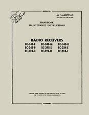 REPRINT AN 16-40BC224-3 RADIO RECEIVERS BC-348-E,M,O,P,S & BC-224-E,G,H,L