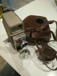 Vintage Bell & Howell 624 EE 8mm Autoset Movie Camera Leather Case extra lens