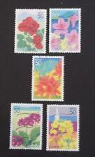 JAPAN USED 2004 PREFECTURE 50 yen FLOWERS 5 VALUE VF COMP SET SC#  Z642 - Z646